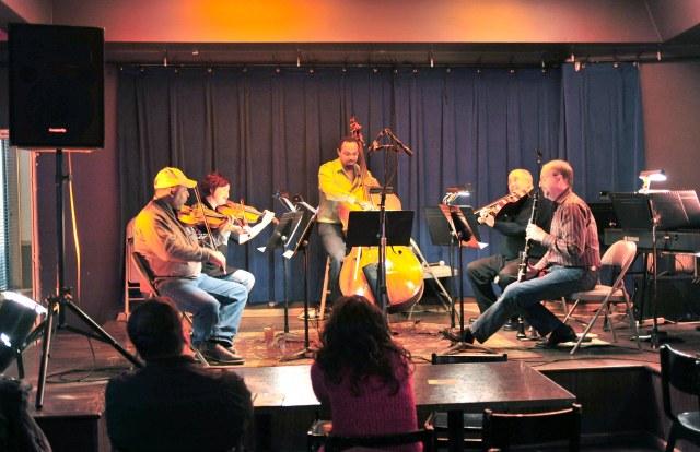 Classical Revolution Detroit event playing Brahms Clarinet Quintet 2011